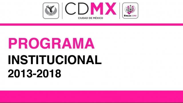 Programa Institucional 2013-2018